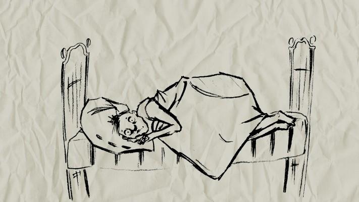 Тише, бабушка спит!